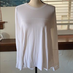 🍋 long sleeve white top